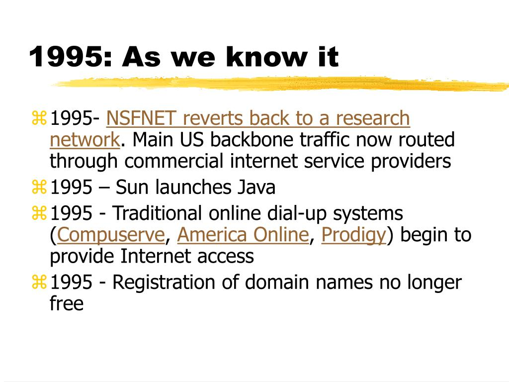 1995: As we know it