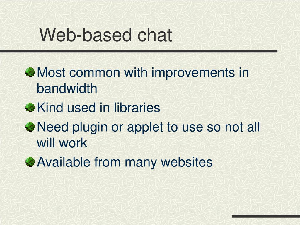 Web-based chat