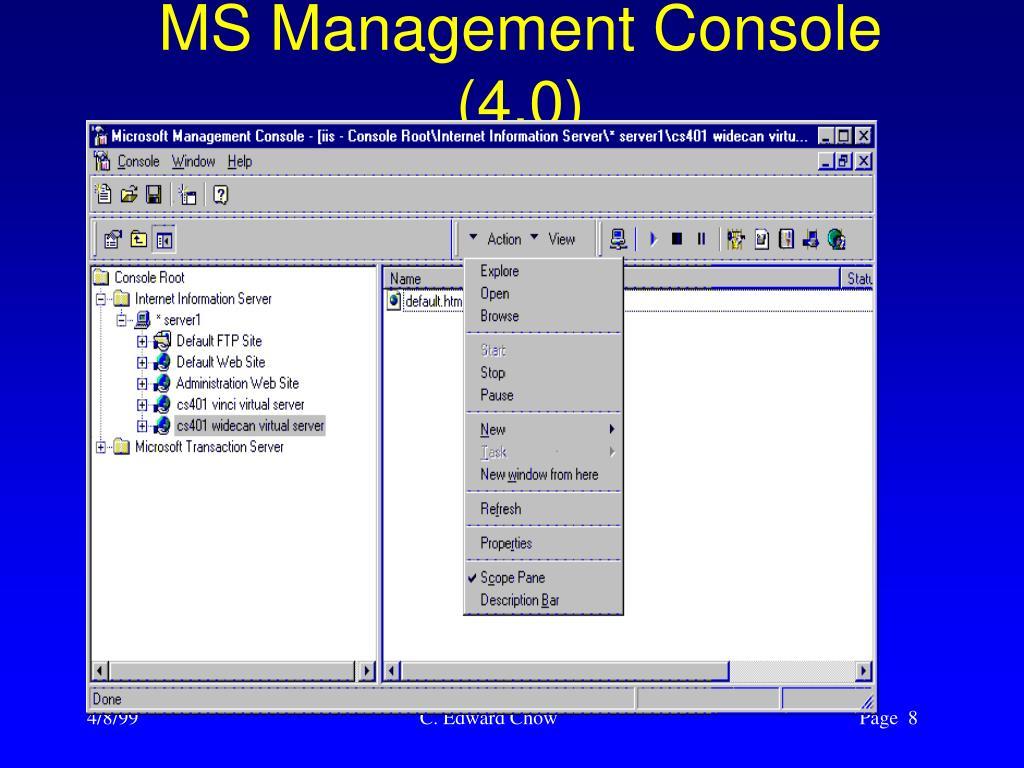 MS Management Console (4.0)