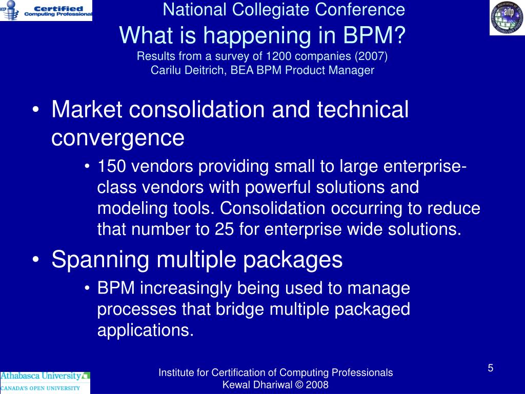 What is happening in BPM?