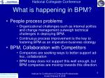 what is happening in bpm