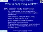 what is happening in bpm7