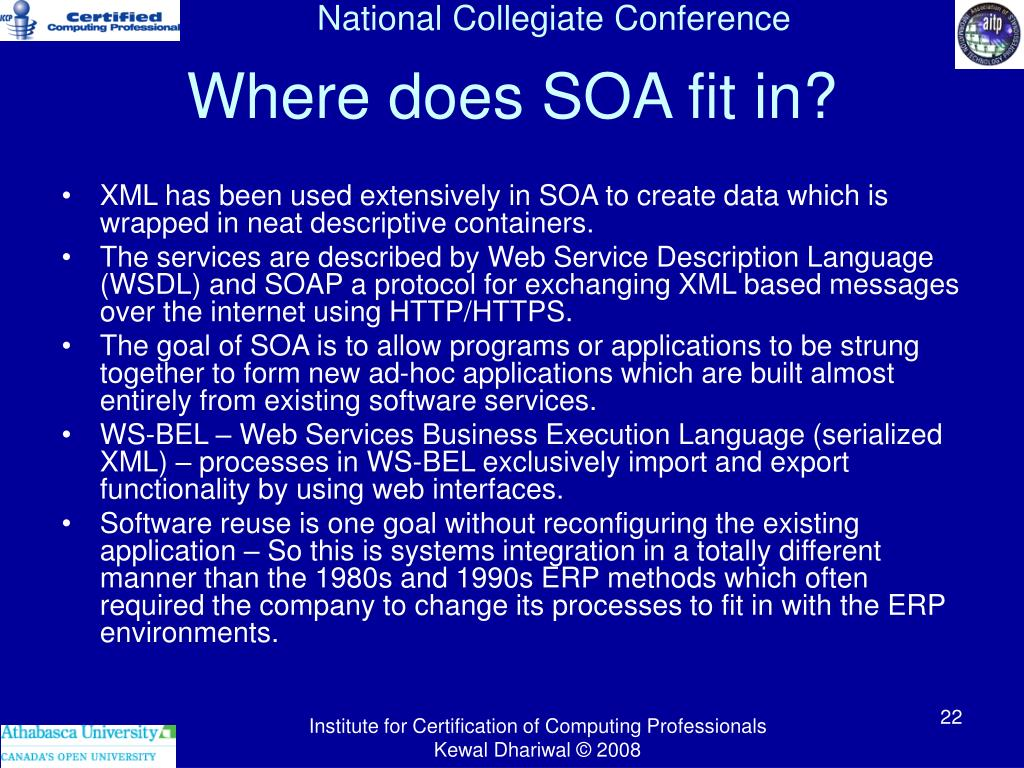 Where does SOA fit in?