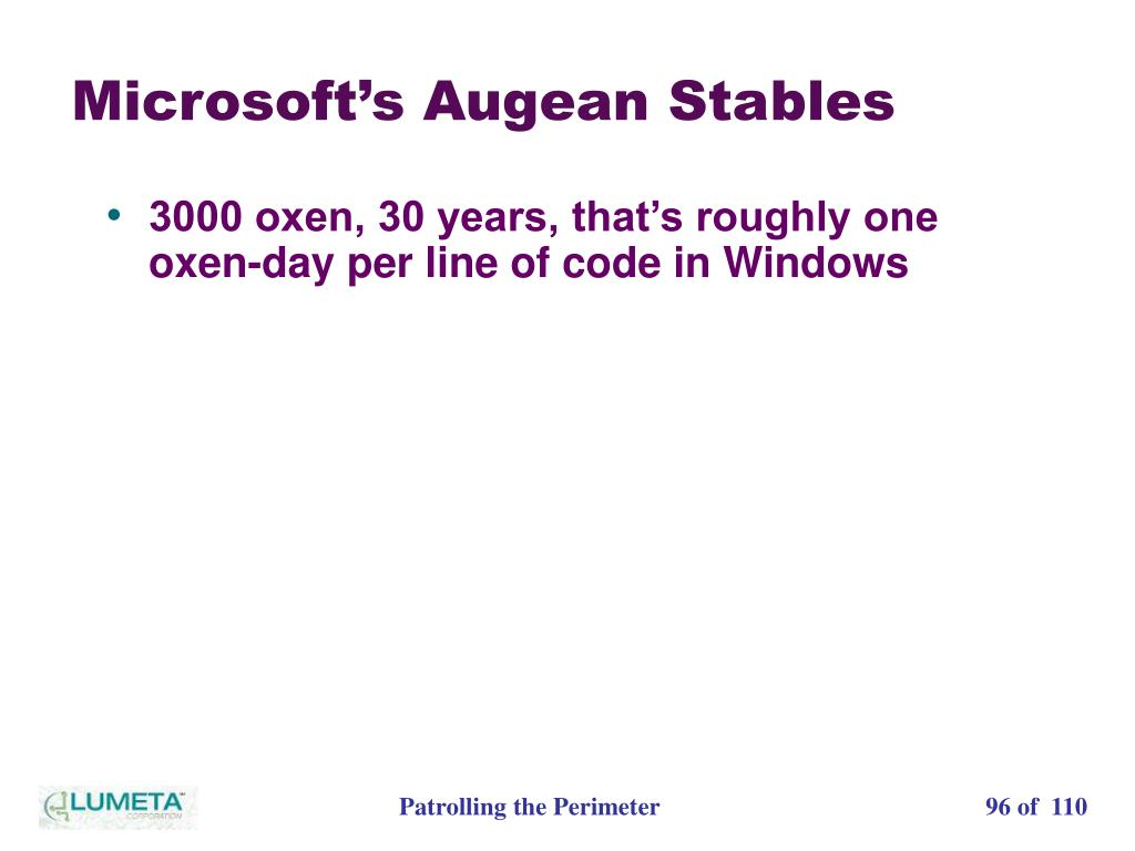 Microsoft's Augean Stables