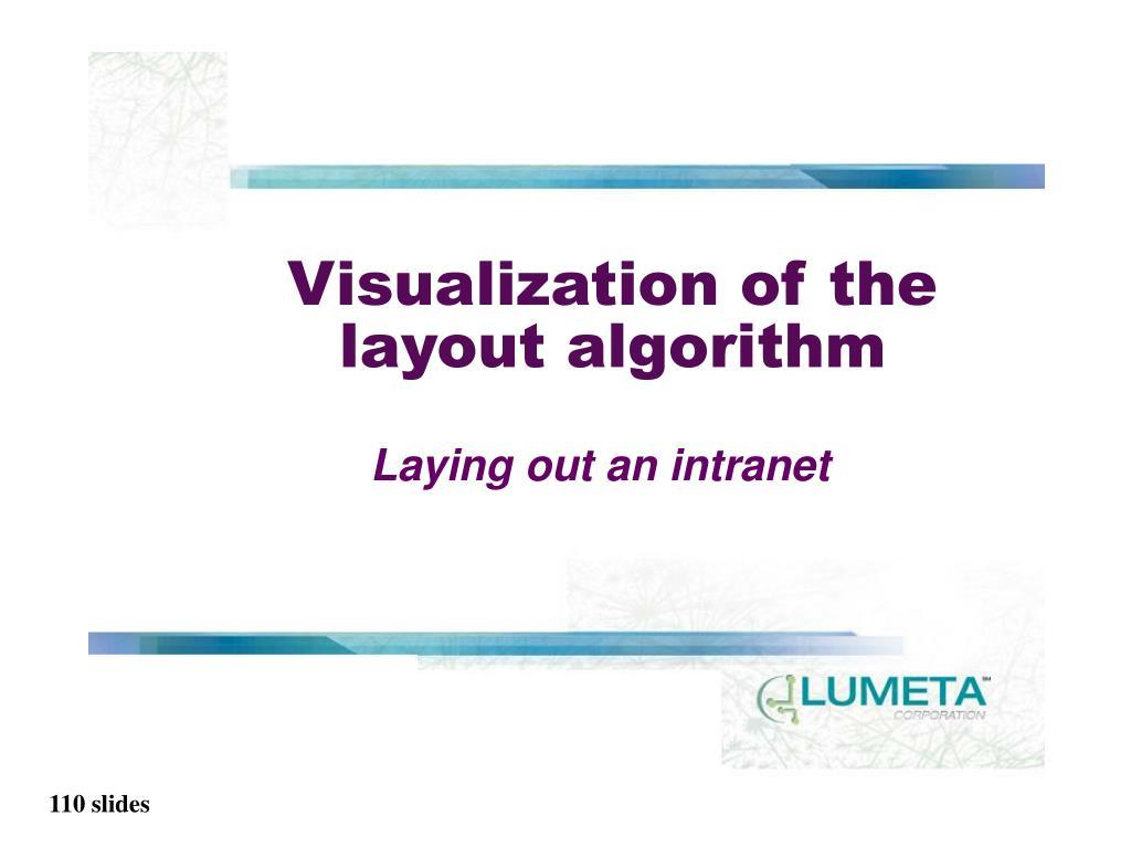 Visualization of the layout algorithm