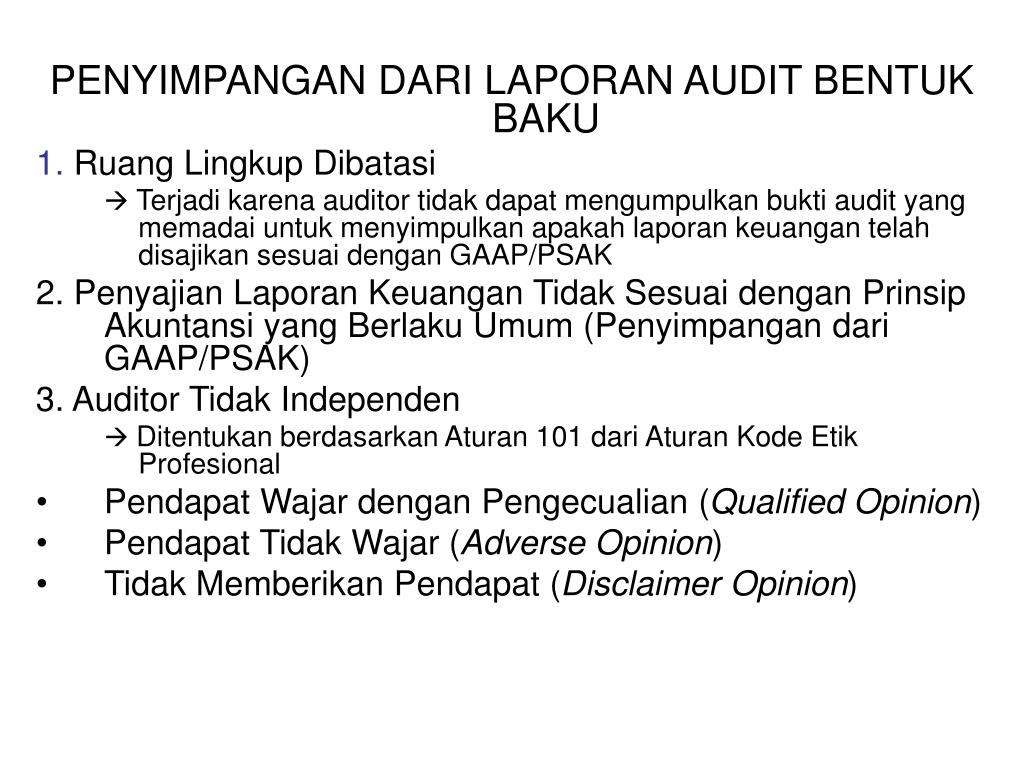 Ppt Laporan Audit Powerpoint Presentation Id 221988