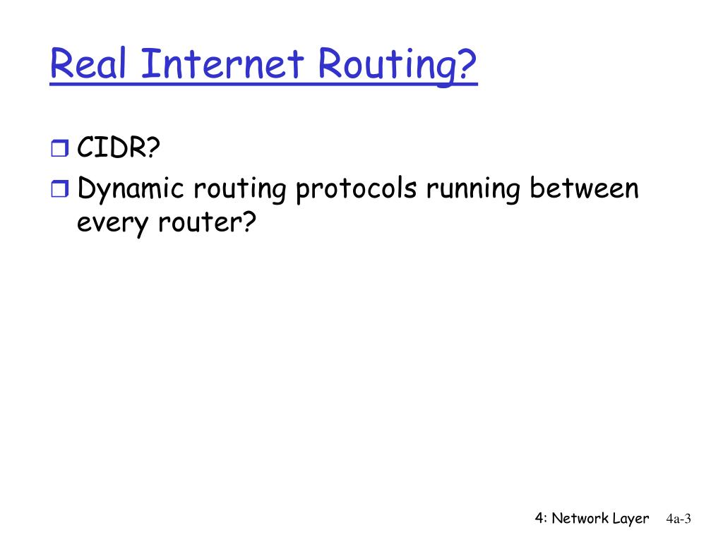 Real Internet Routing?