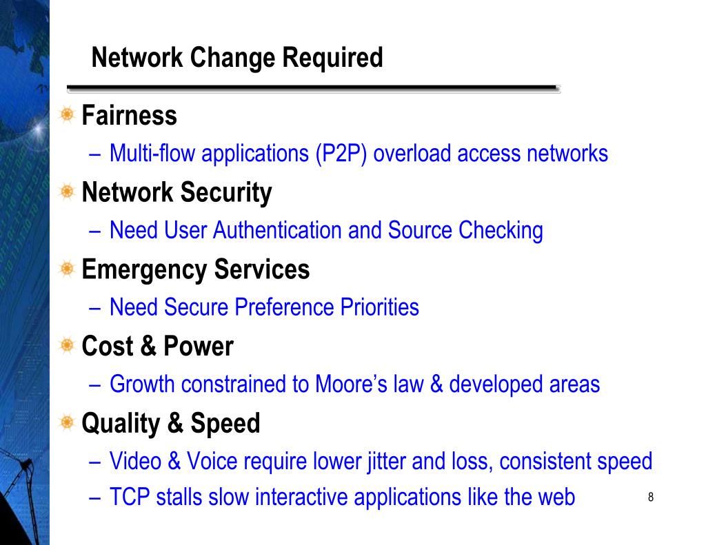 Network Change Required