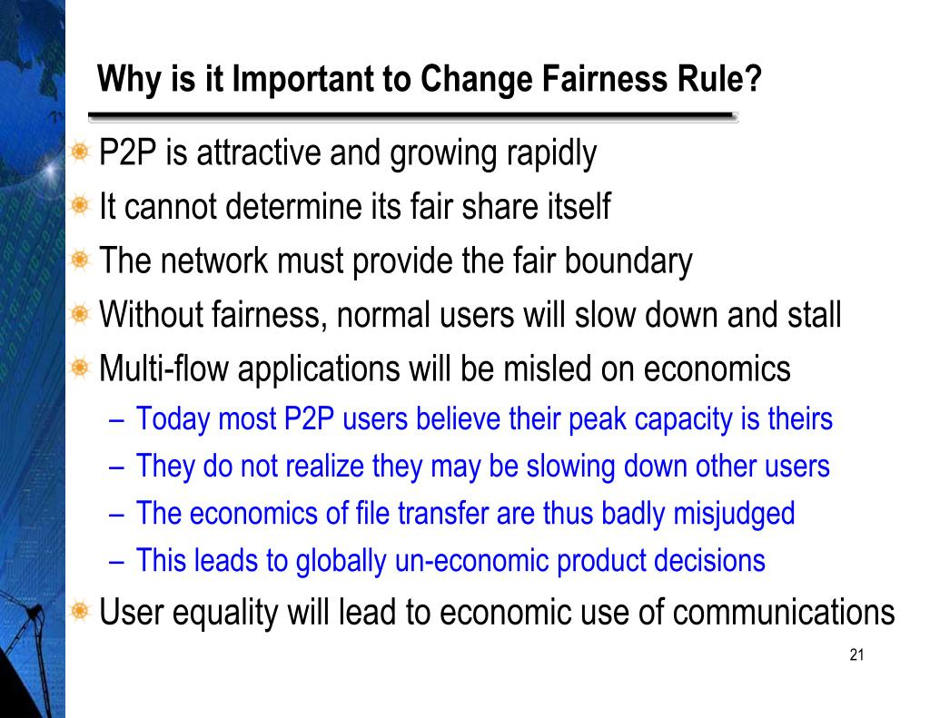 Why is it Important to Change Fairness Rule?