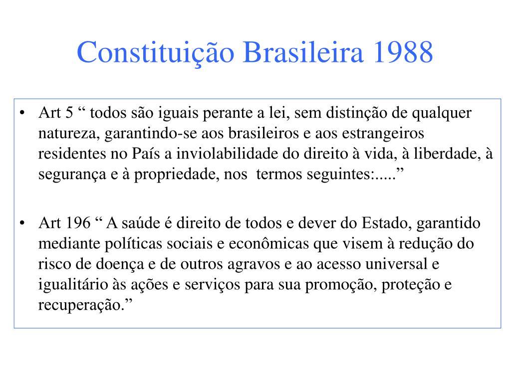 Constituição Brasileira 1988
