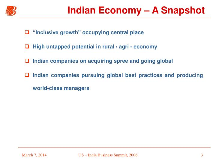 Indian economy a snapshot3
