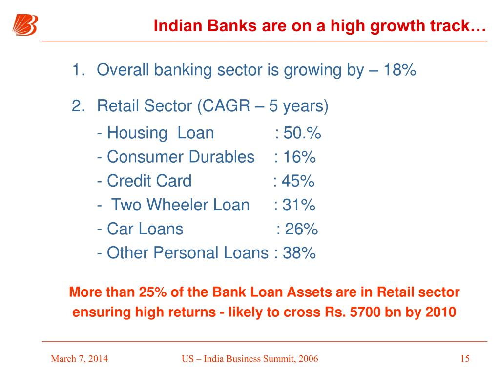 Indian Banks are on a high growth track…
