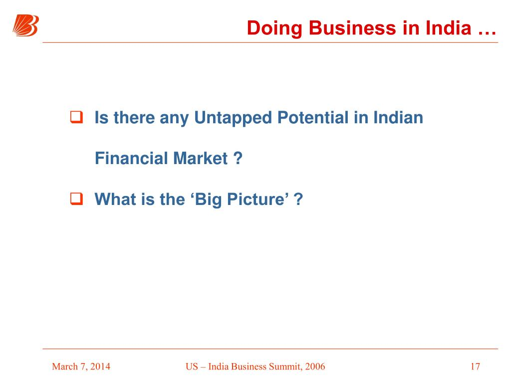 Doing Business in India …