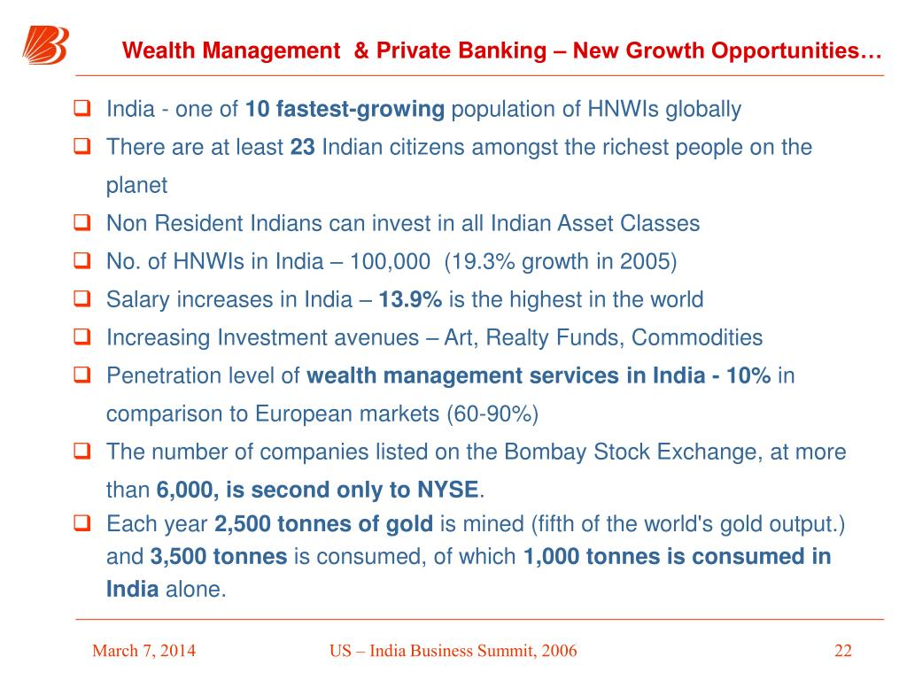 Wealth Management  & Private Banking – New Growth Opportunities…
