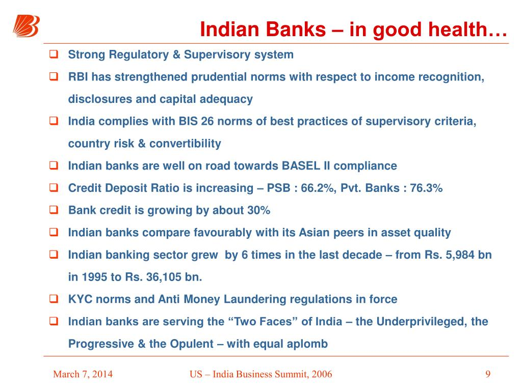Indian Banks – in good health…