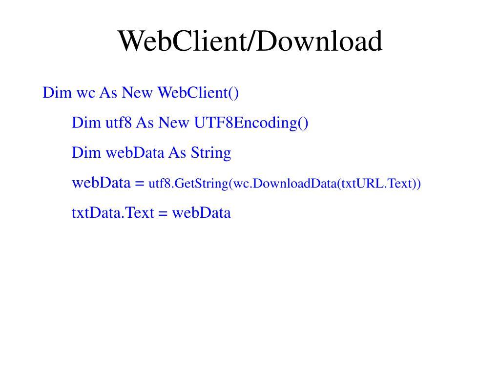WebClient/Download