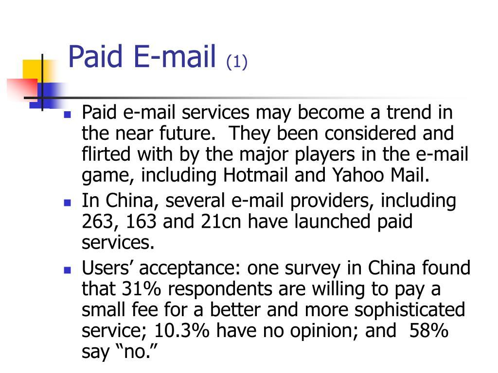 Paid E-mail