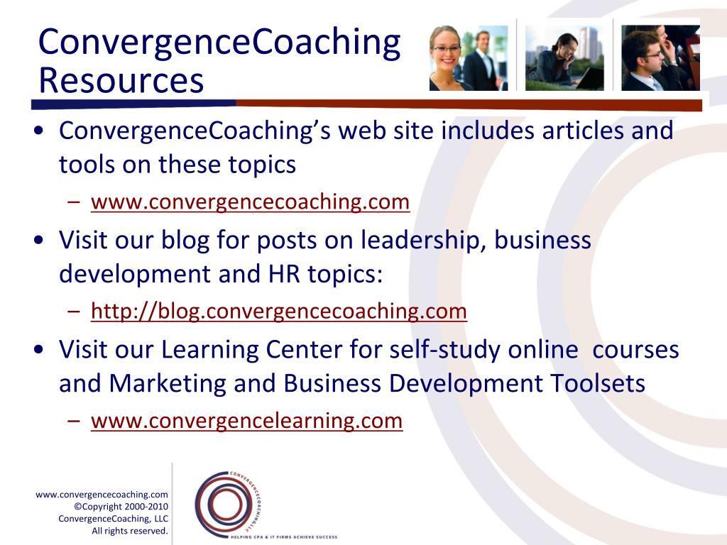ConvergenceCoaching