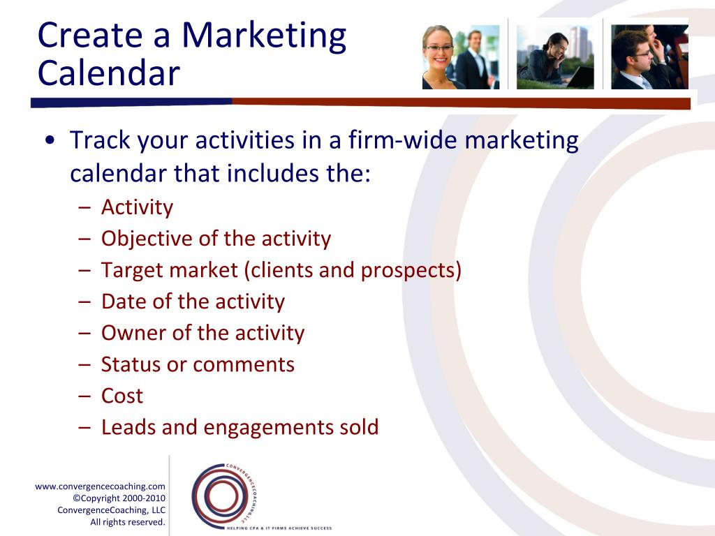 Create a Marketing Calendar