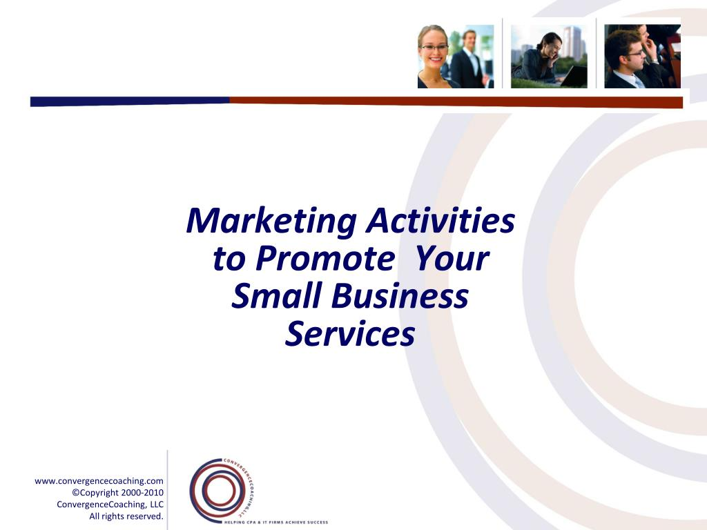 Marketing Activities to Promote  Your Small Business Services