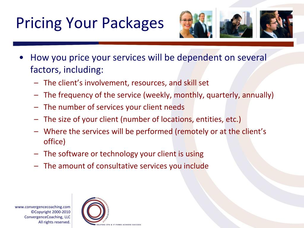 Pricing Your Packages