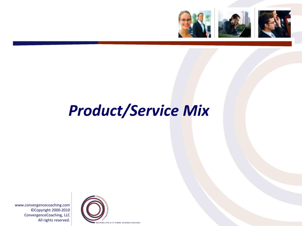 Product/Service Mix