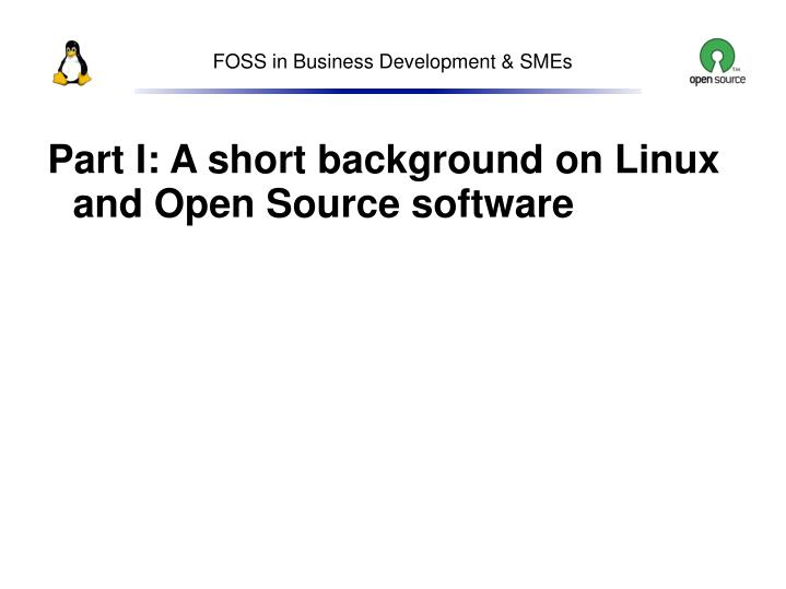 Foss in business development smes