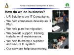 foss in business development smes41