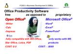 foss in business development smes44