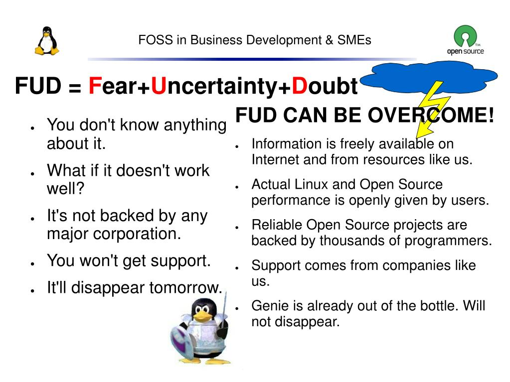 FUD CAN BE OVERCOME!