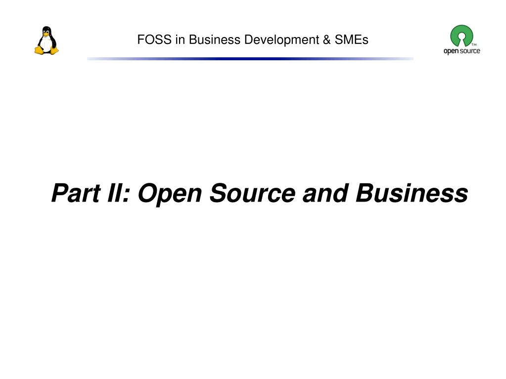 Part II: Open Source and Business