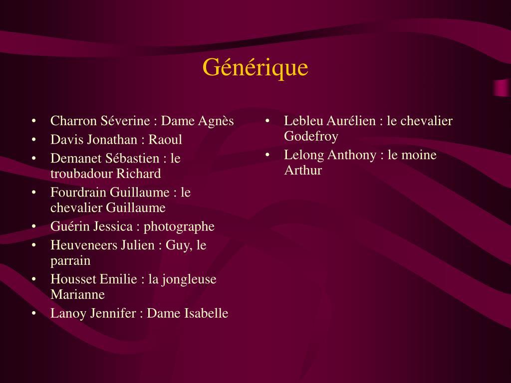 Charron Séverine : Dame Agnès