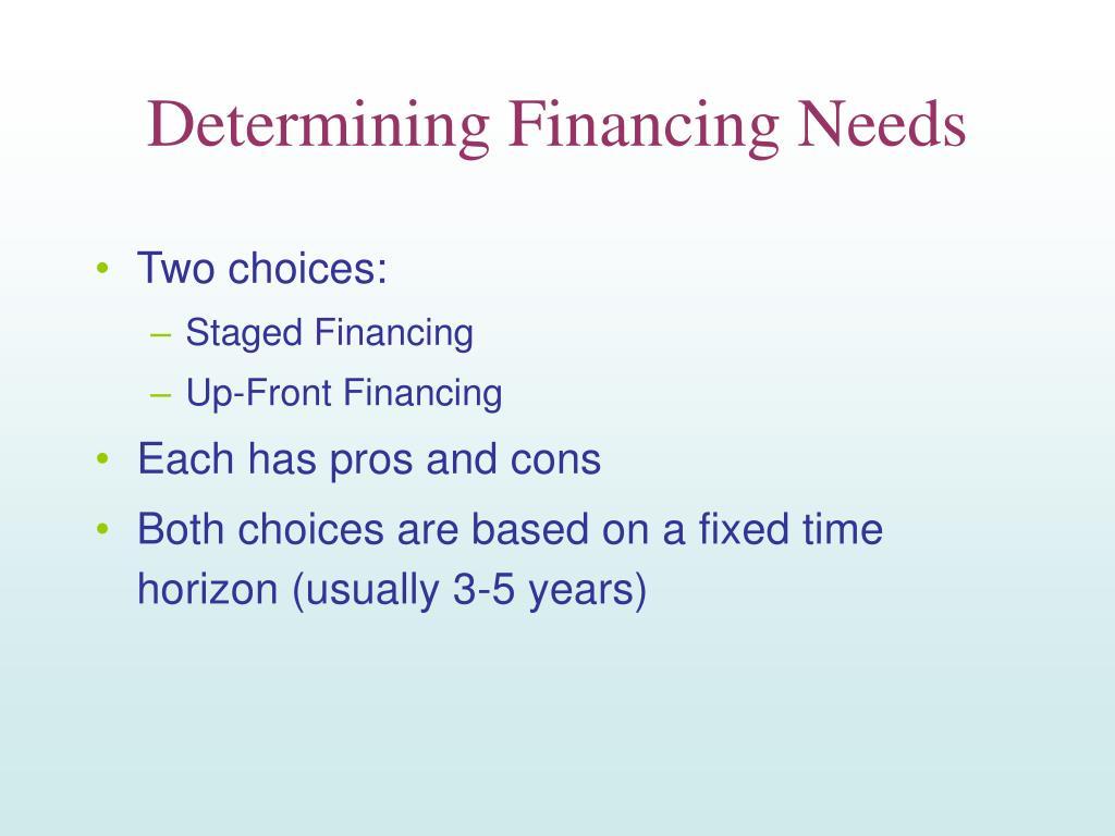 Determining Financing Needs