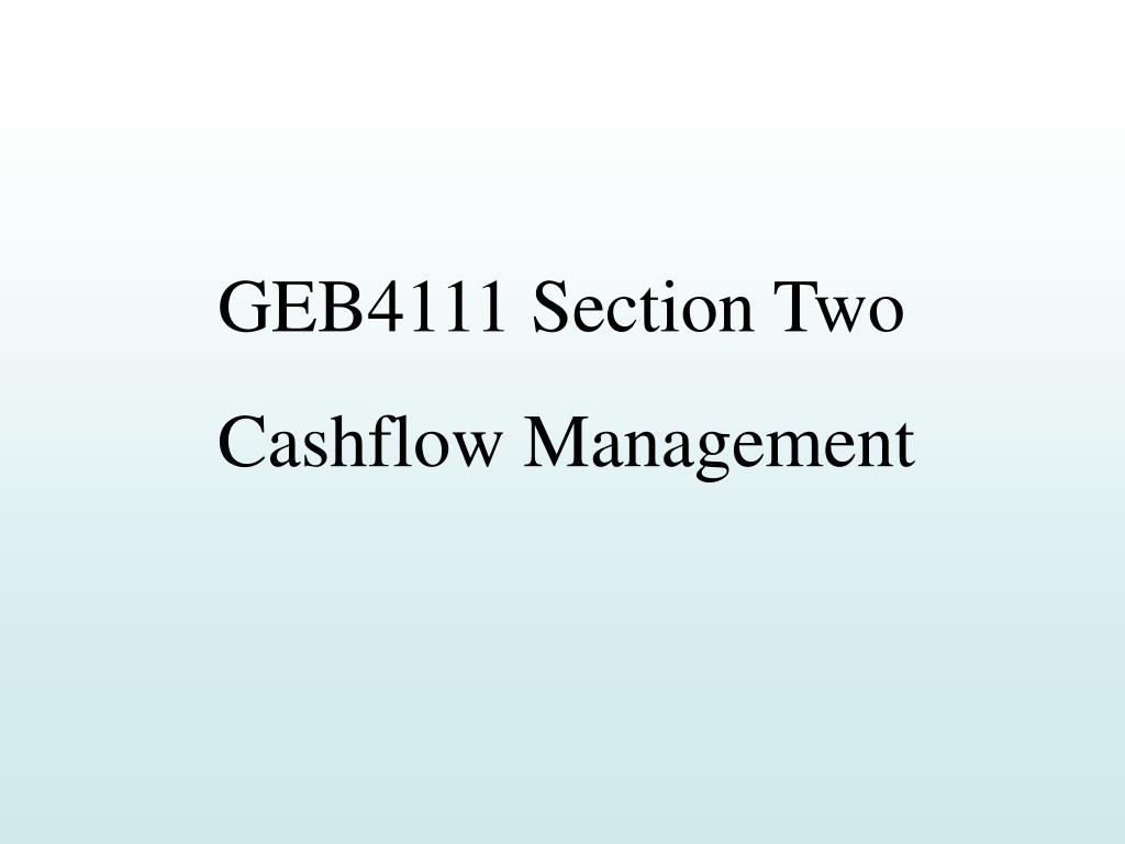GEB4111 Section Two