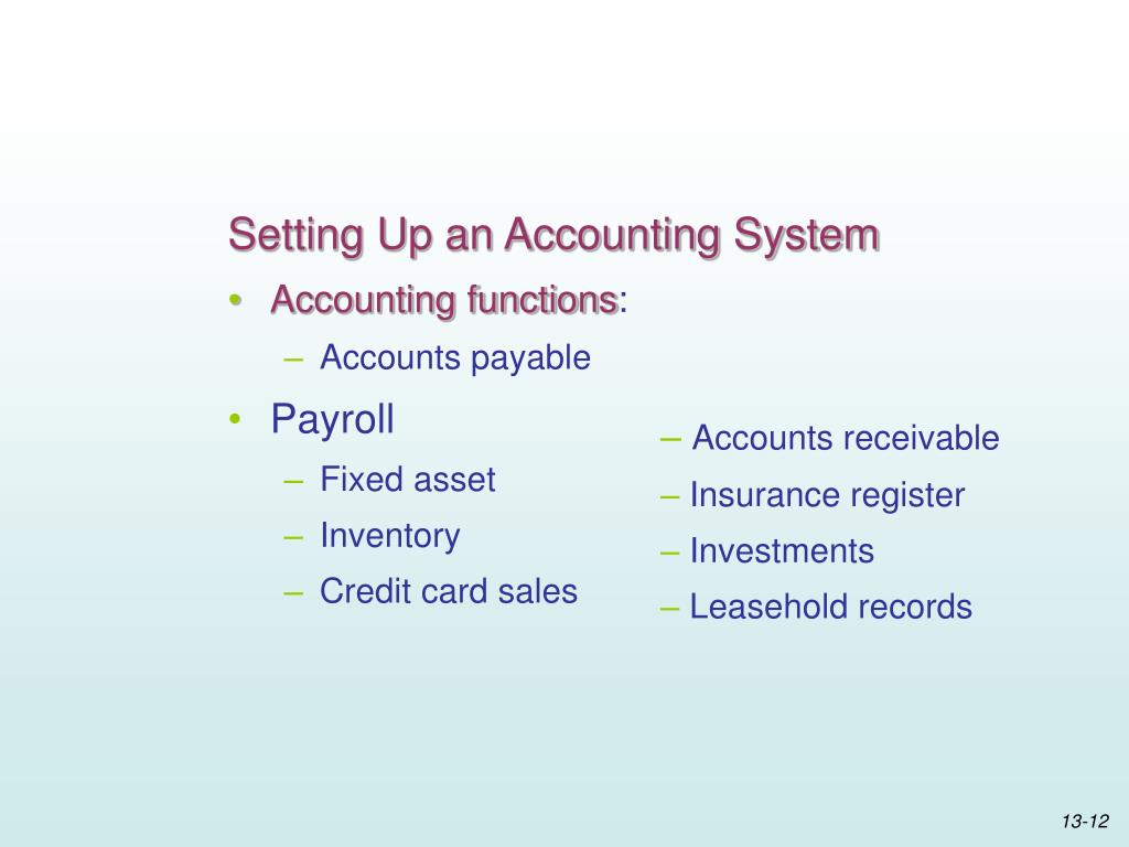 Setting Up an Accounting System