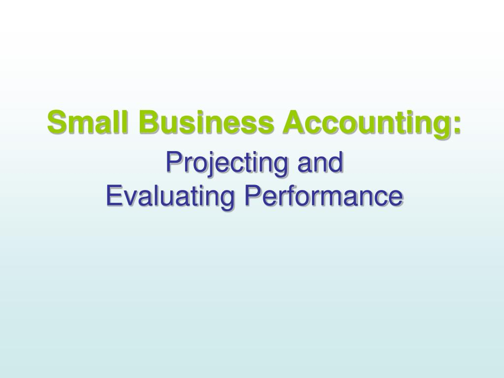 Small Business Accounting: