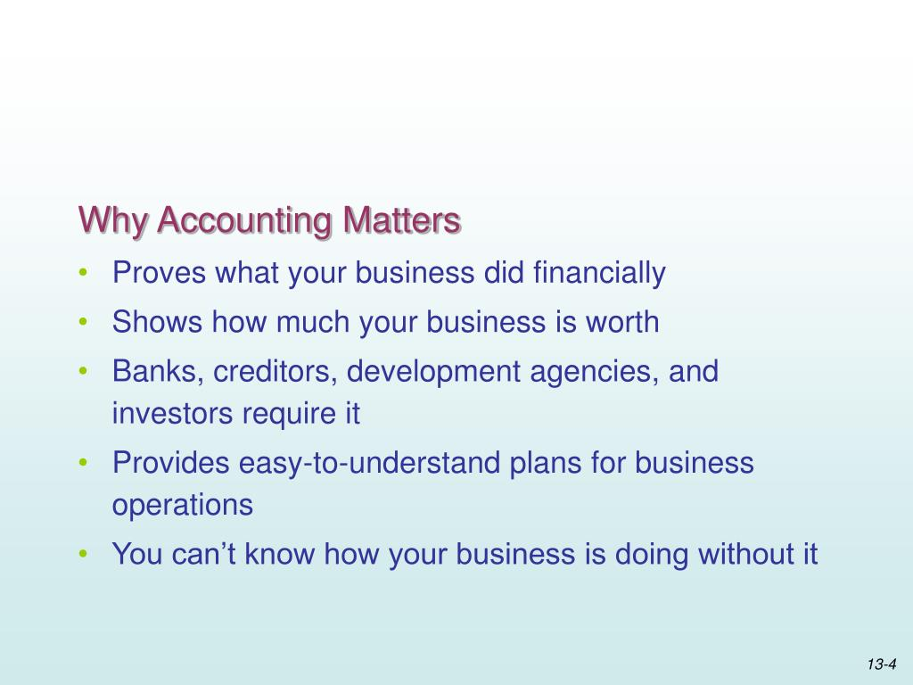 Why Accounting Matters