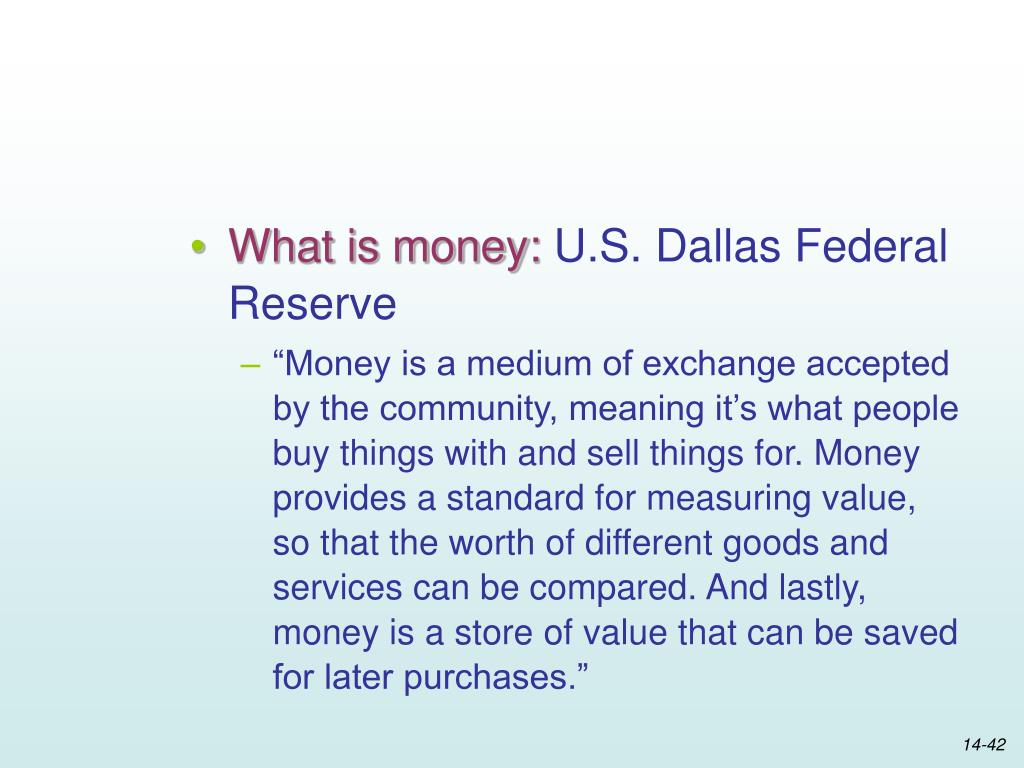What is money: