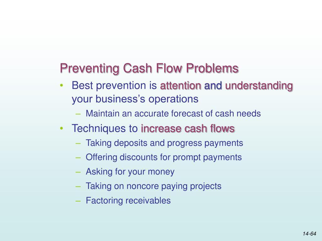 Preventing Cash Flow Problems
