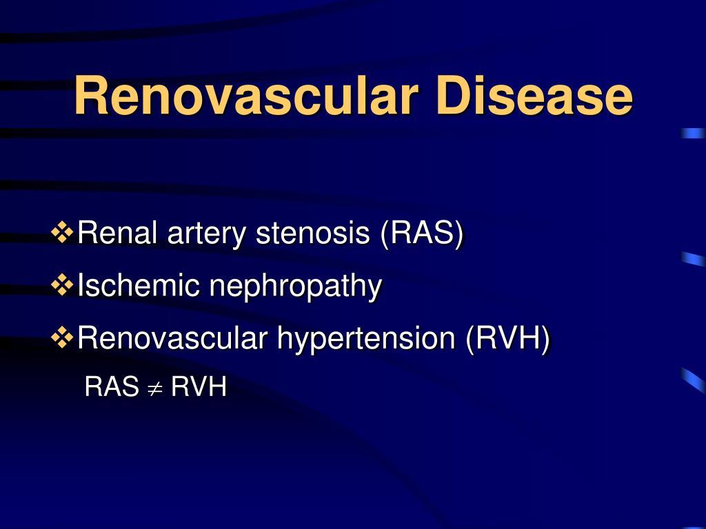 Renovascular Disease
