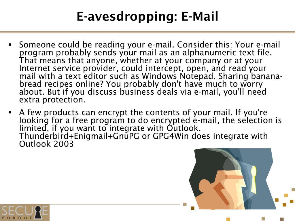 E-avesdropping: E-Mail