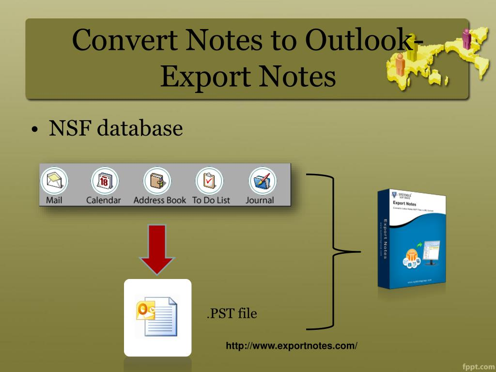 Convert Notes to Outlook-Export Notes