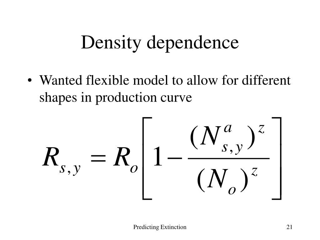 Density dependence
