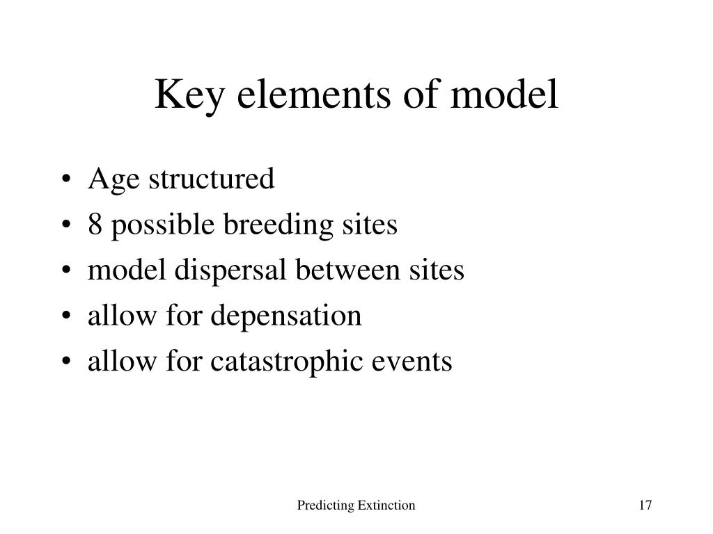 Key elements of model
