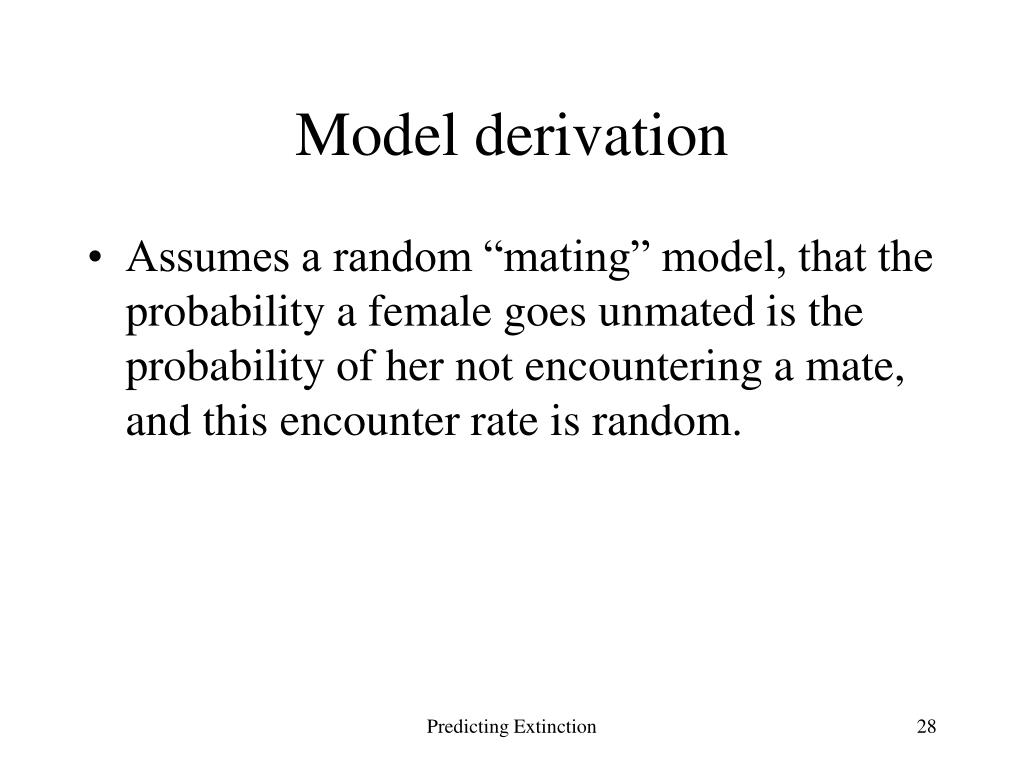 Model derivation