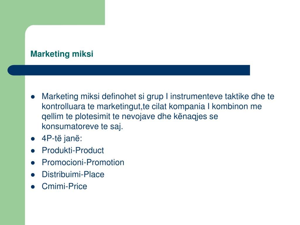 Marketing miksi
