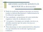 identificaci n de mol culas biol gicas en desconocidos