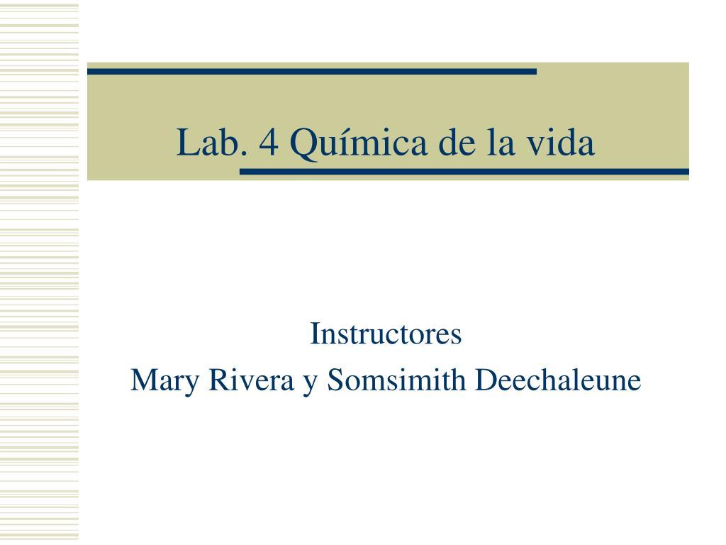 Lab. 4 Química de la vida