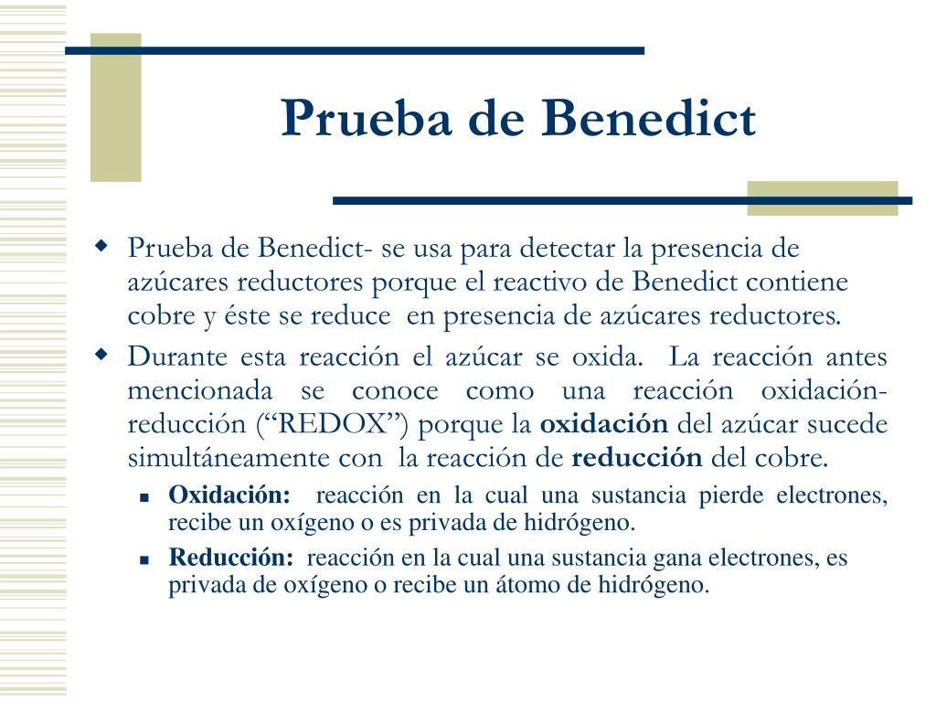 Prueba de Benedict