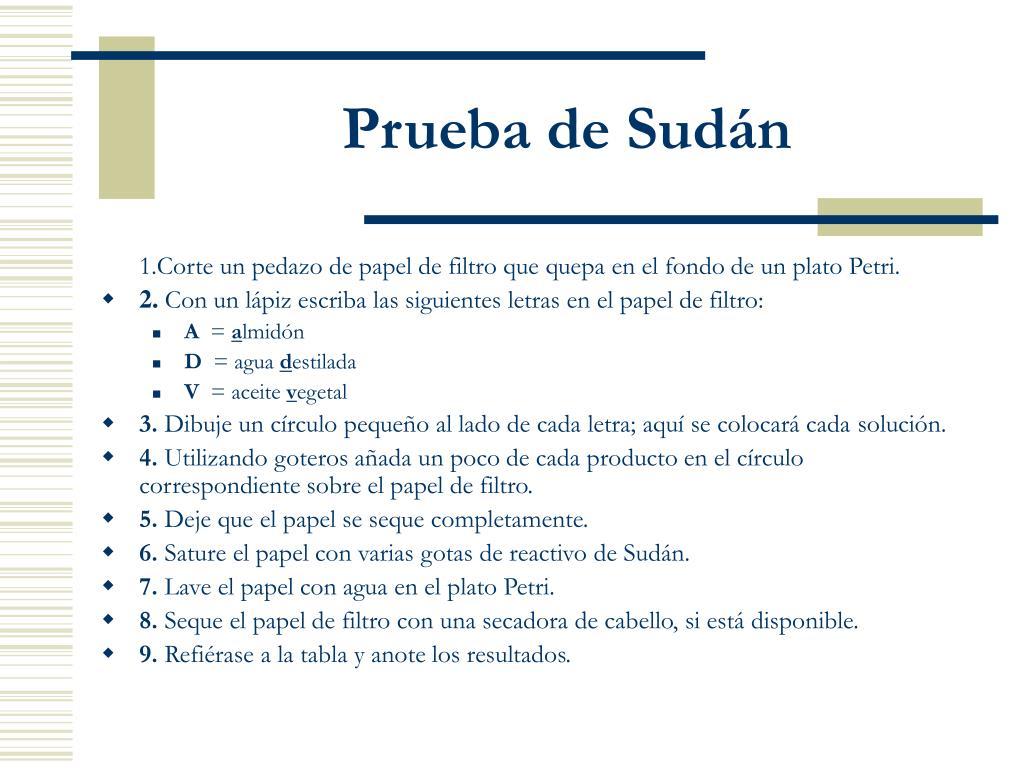 Prueba de Sudán